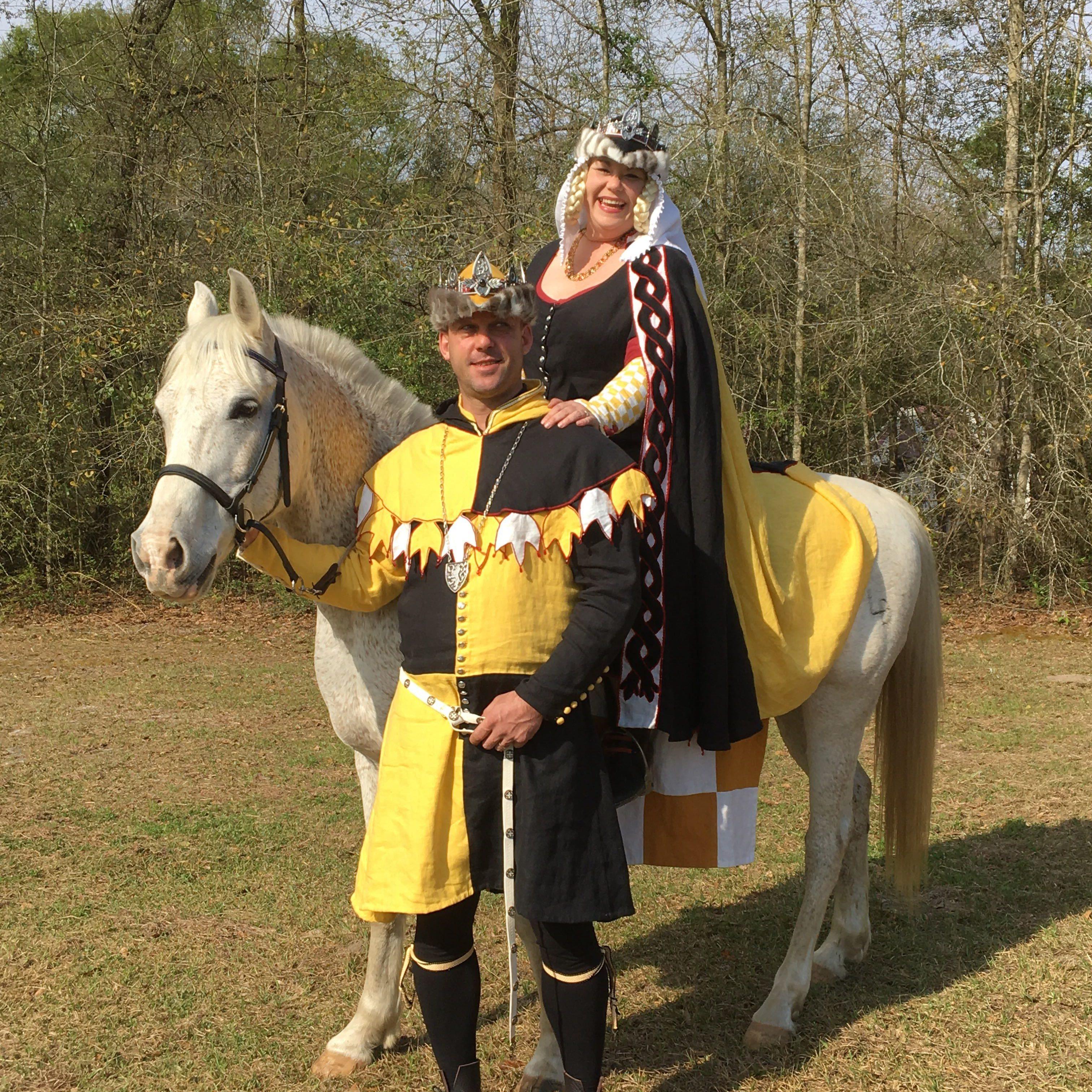 King Kjartan and Queen Sha'ya at Gulf Wars 2019